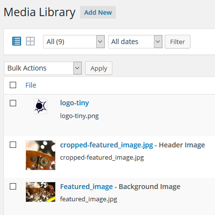 media library listing