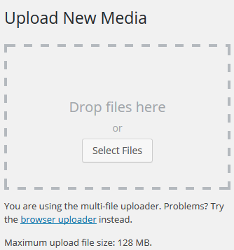media library - upload new media