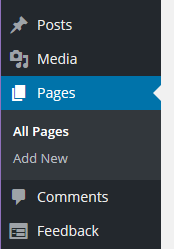 menu option - pages