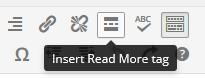 page editor - read more button