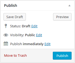 page editor - save draft button