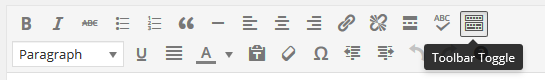 page editor - toggle toolbar